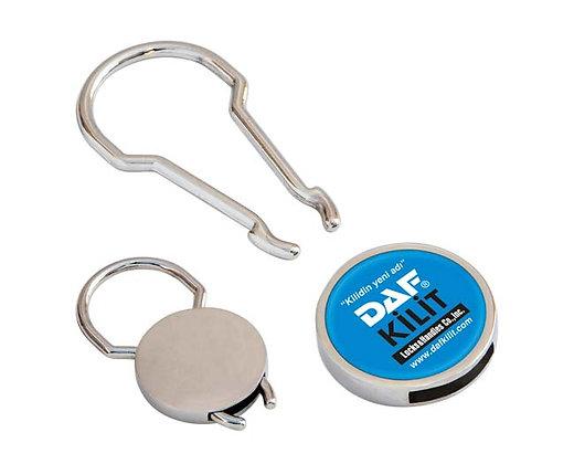 מחזיק מפתחות לפרסום עם מנעול