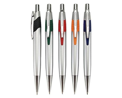 עט כדורי גוף פלסטיק מוכסף