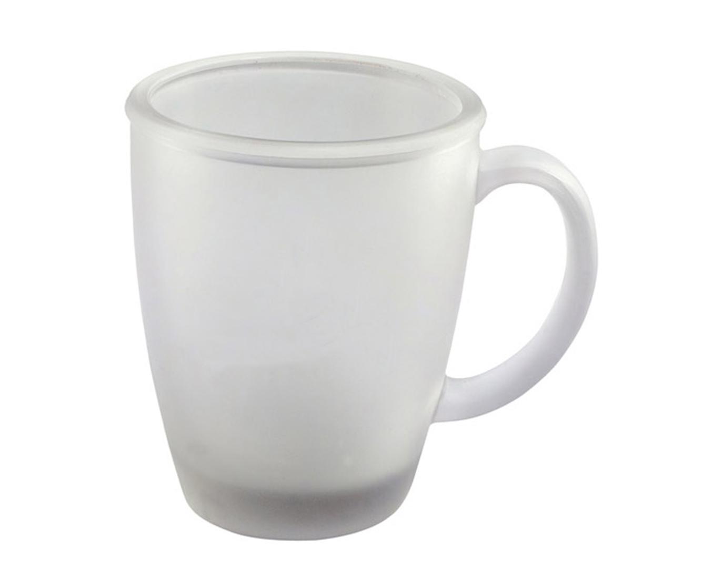 ספל זכוכית חלבי