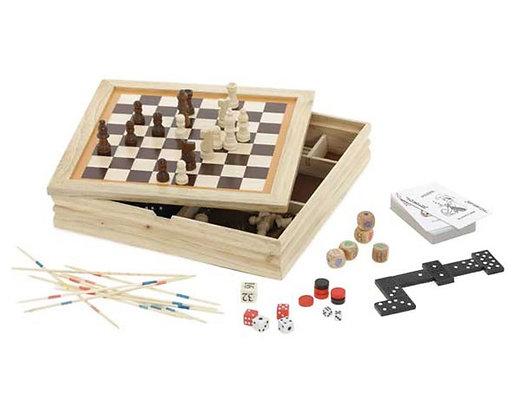משחק בקופסת עץ 7 ב-1
