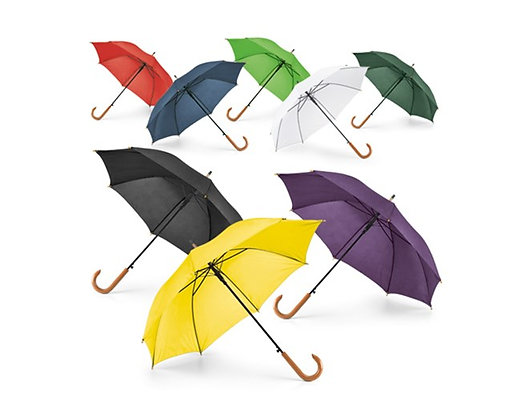 מטריה עם ידית עץ
