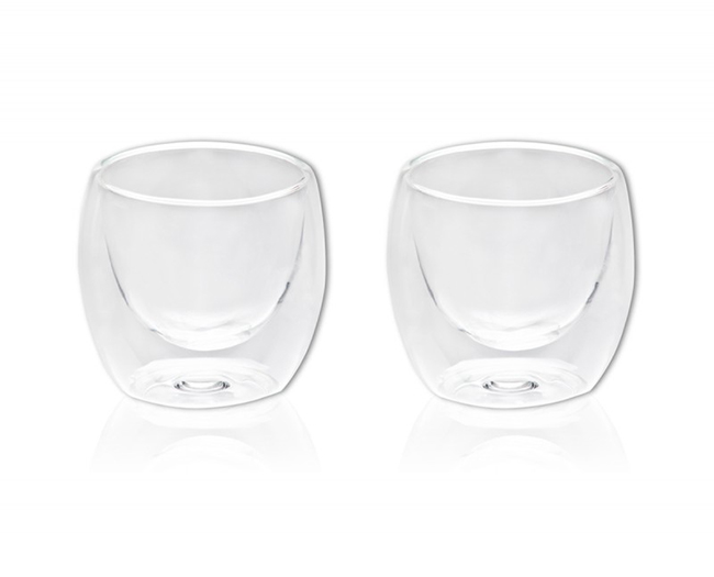 זוג כוסות זכוכית