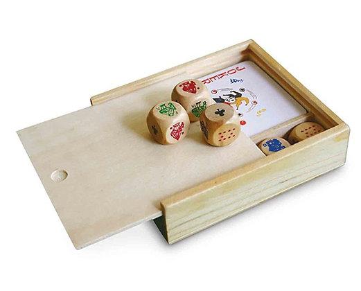 משחק בקופסת עץ 2 ב-1