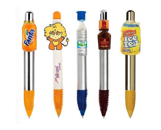 עט פלסטיק עם קליפס צורני