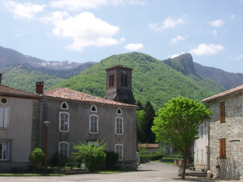 Vue sur les montagnes depuis Arbas