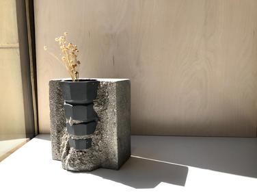 váza C GEOM BLACK
