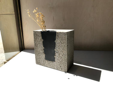 váza S GEOM BLACK