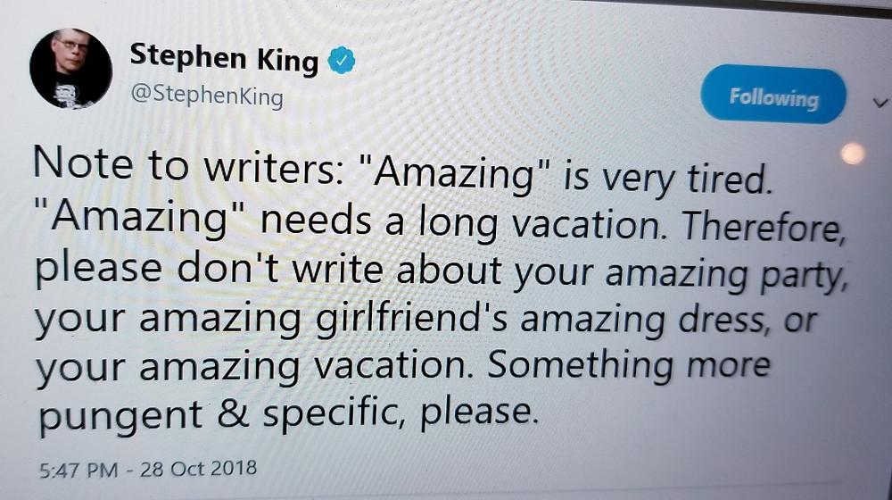 stephen king on amazing