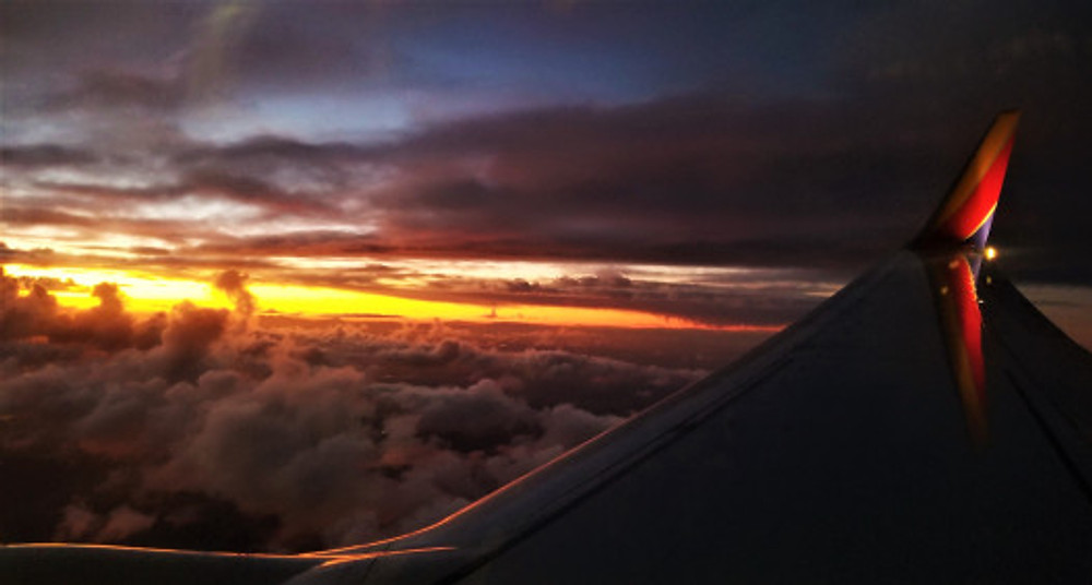 sunset in the clouds