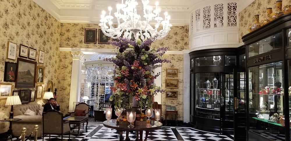 Savoy lobby to tea room gift store