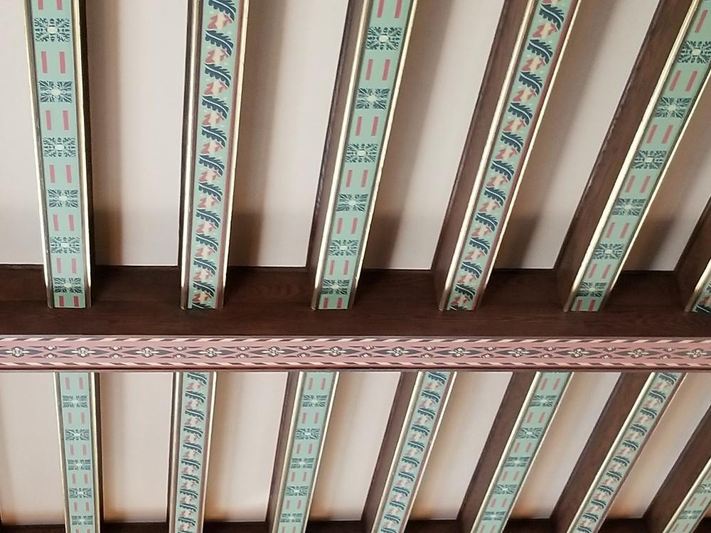 castle decor ceiling beams