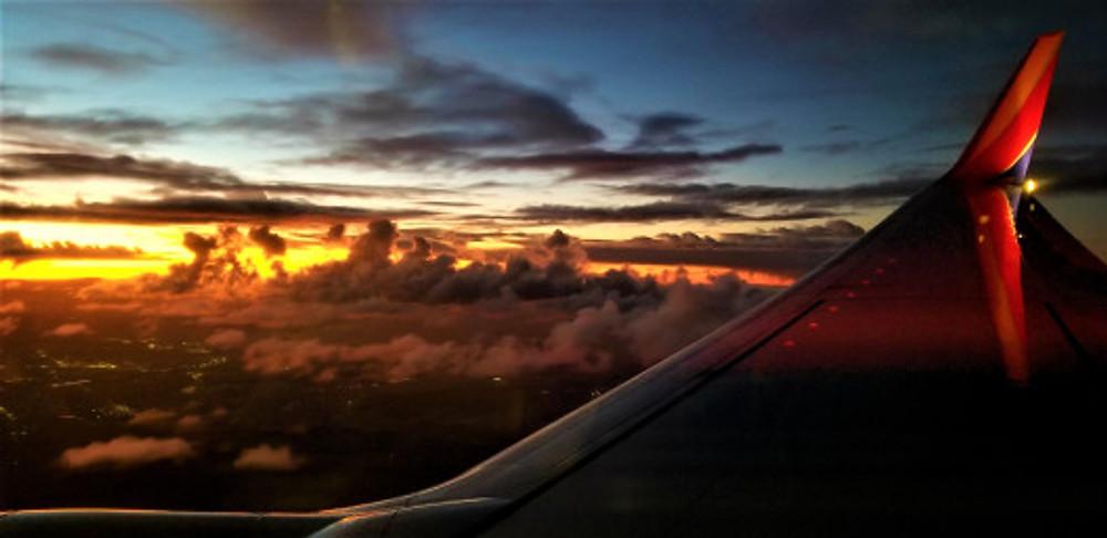 sunset at 30k feet