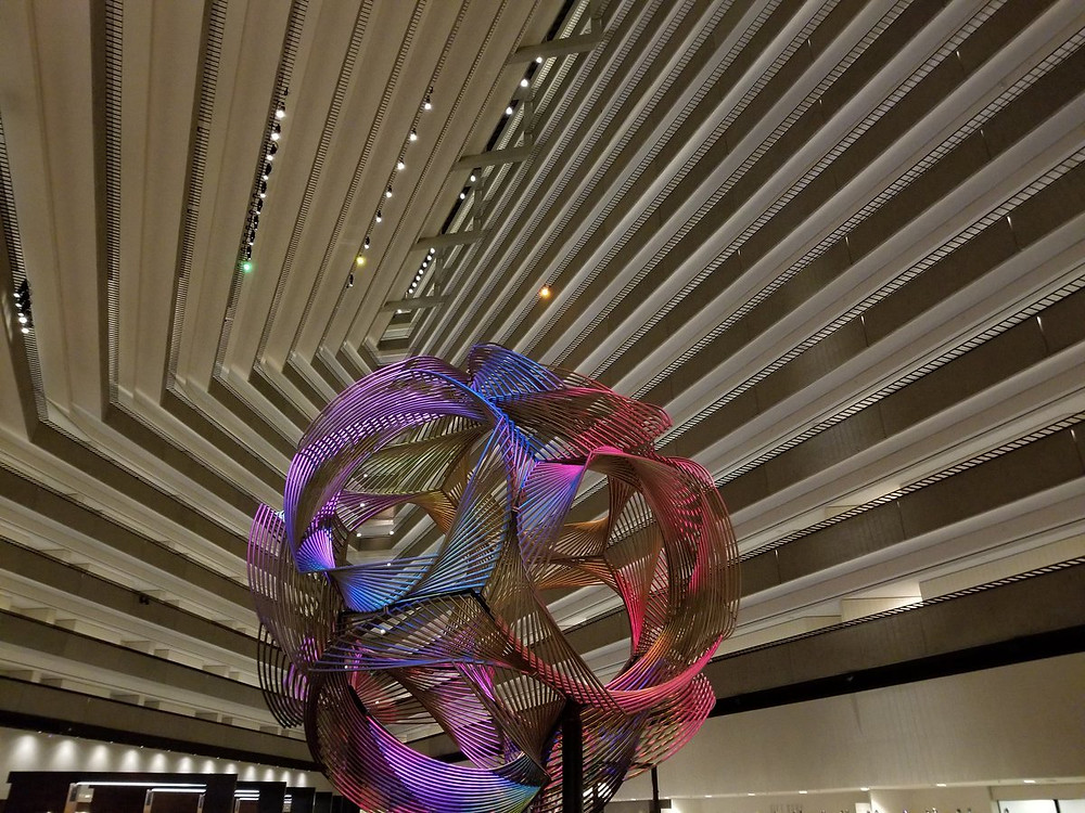 hyatt lobby sculpture