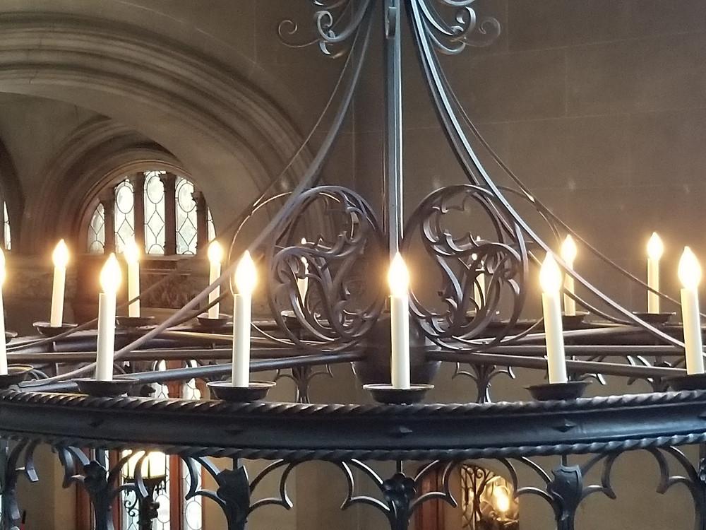 castle decor stair chandelier