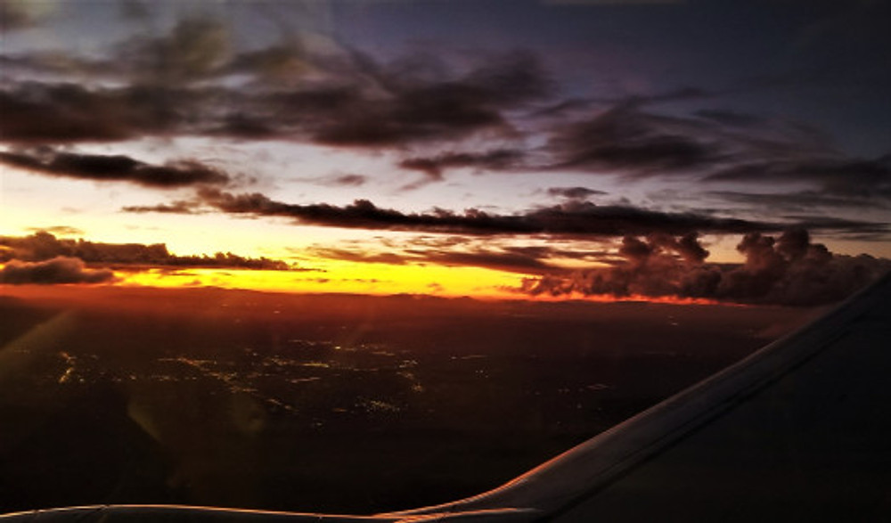 sunset coming home from las vegas