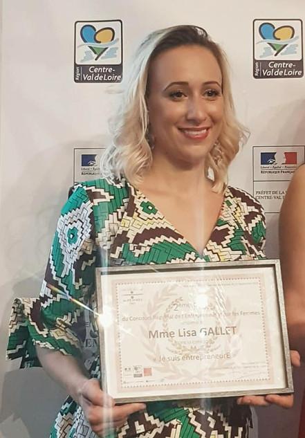 2ème lauréate du Concours Régional de l'entrepreneuriat par les Femmes.