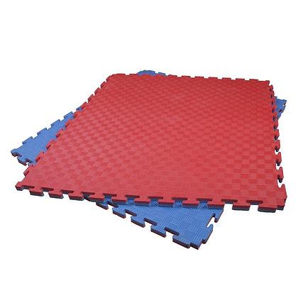 Puzzle Matt PVC 100x100x2,5cm. Red/Blue