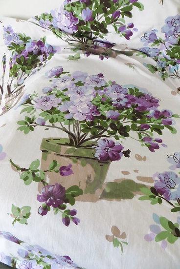 Sanderson 1957 Potted Lilac Azalea Fabric Floral Vintage