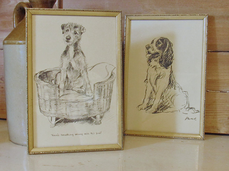 "1930's Framed Dog ""Sketches"""