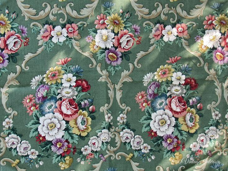 Vintage Sanderson floral cotton fabric