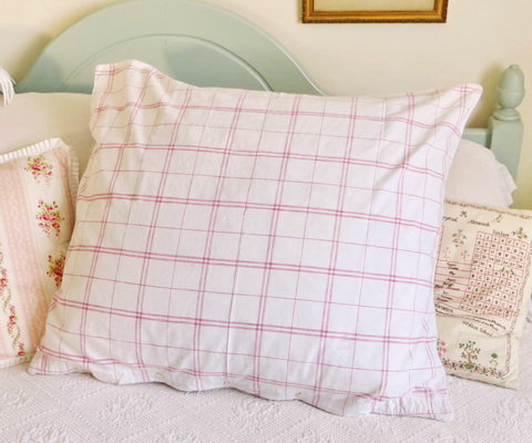 French Red Plaid Pillowcase full