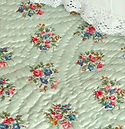 Green Welsh Quilt with floral posies