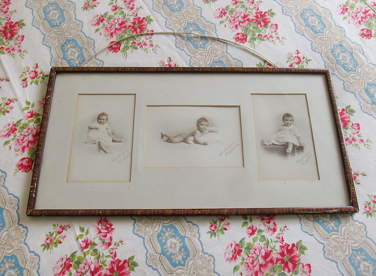 Framed Edwardian Baby photos