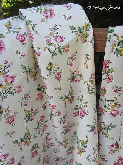 Vintage French Romanex Fabric Curtain Panels