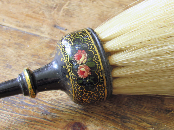 Hand Painted fireplace brush