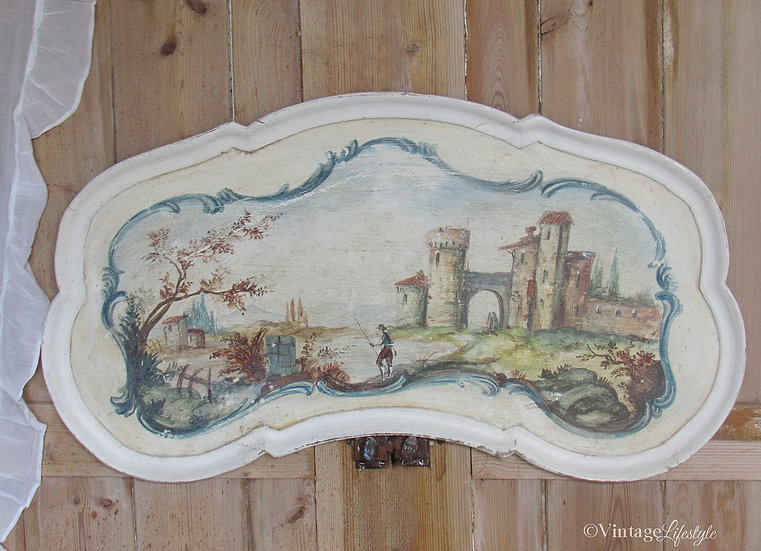 Hand Painted French Tray Antique