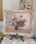 Floral Oil Painting in Decorative Frame
