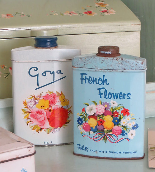 Colourful Floral Talc Tins