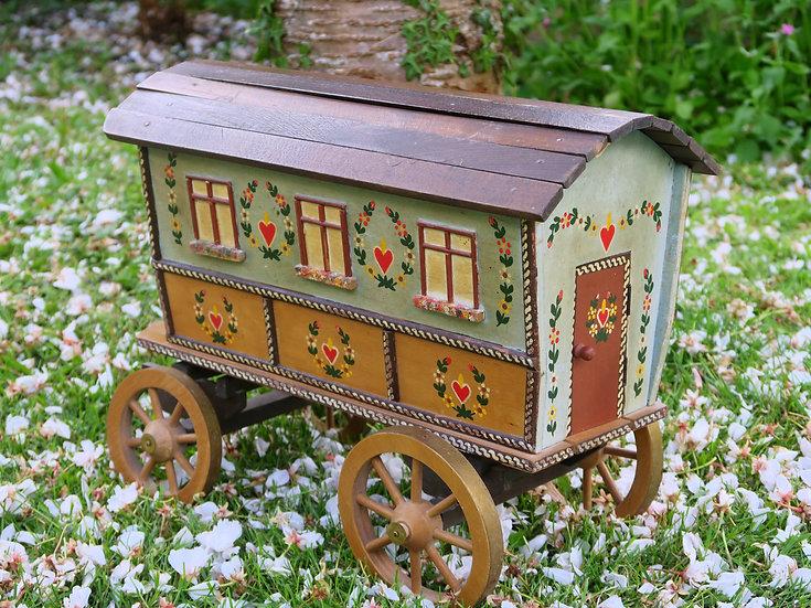 Folk Art Floral Painted Caravan