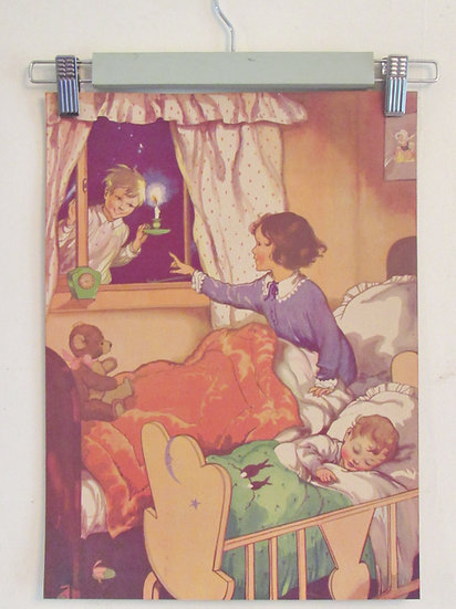 Colourful Children's vintage Prints peter pan