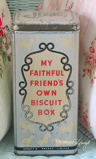 Front Text Spratts Doggie Biscuit Tin
