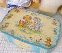 Child's vintage novelty tin
