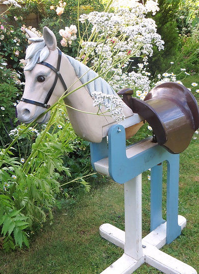 Handmade vintage Wooden Bouncing Horse