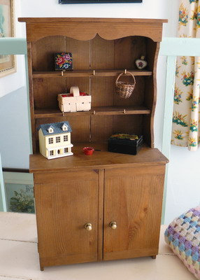 Miniature Country Pine Dresser