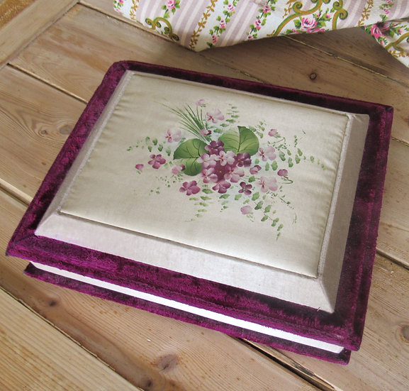 Meltis 1930's chocolate box hand painted violets