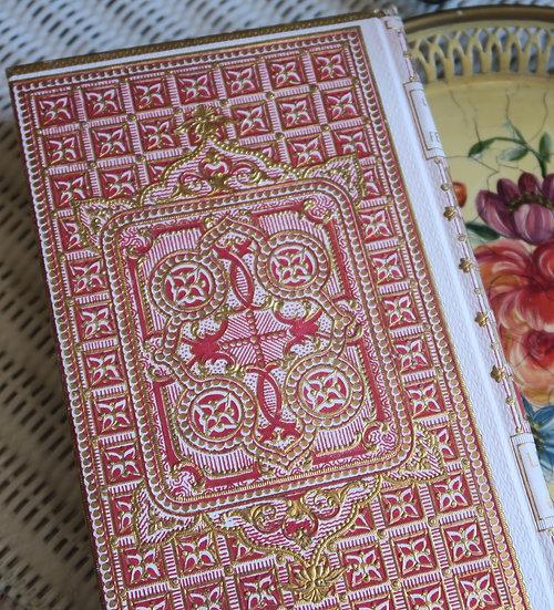Decorative French antique gilt book