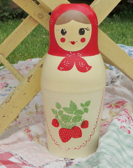 Matroyshka Doll Flask Thermos Vintage
