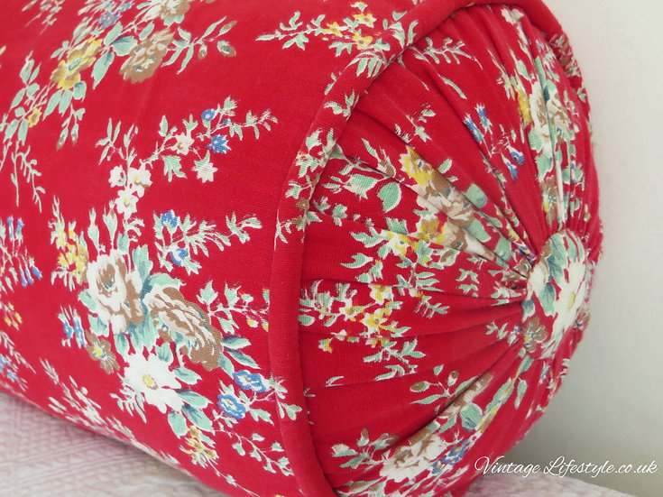 French Floral Vintage Bolster Cushion