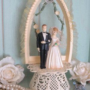 1950's Wedding Cake Topper