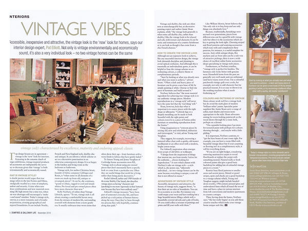 Dumfries & Galloway Life Vintage Article with Vintage Lifestyle's Kelly Norbury.