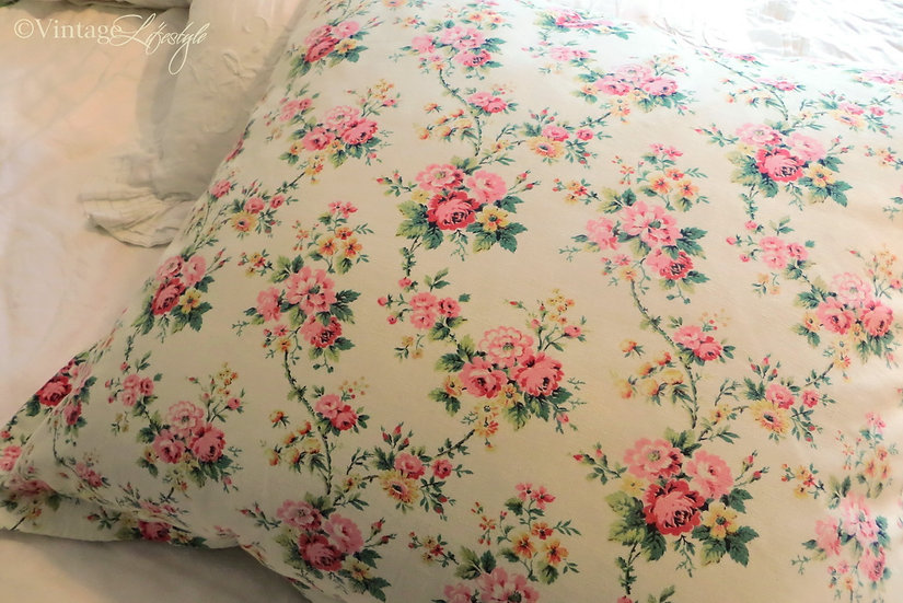 Large French Pillow Cover Roses