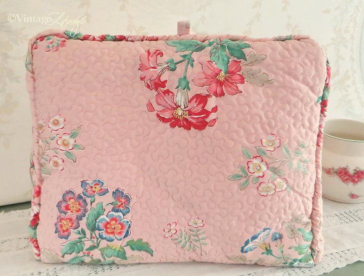 1930's Pink Floral Tea Cosy