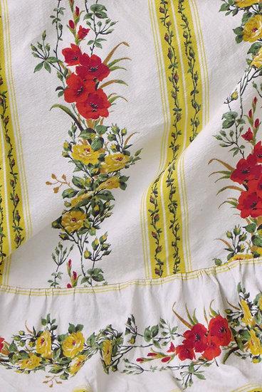 Vintage 1940's Gladiola and Roses Bedspread