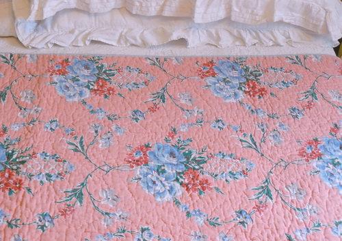 Ravishing Rose Splendor Welsh Quilt Close Up