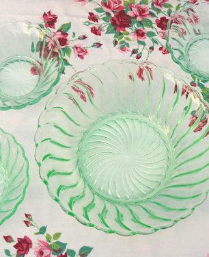 Set of Swirl Pattern Bowls