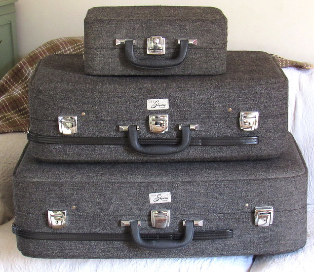 3 piece Vintage 1960 Skyway Luggage set